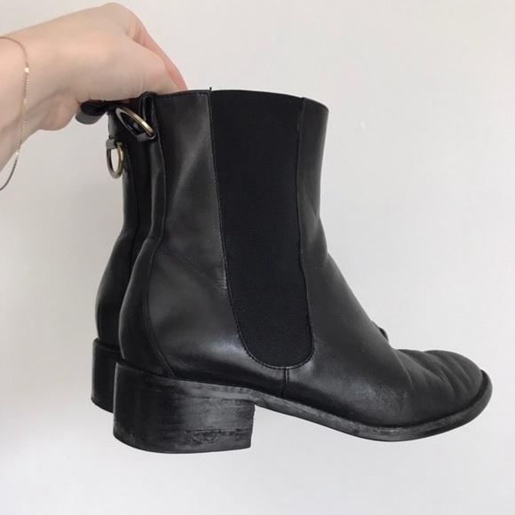 cole haan black chelsea boot